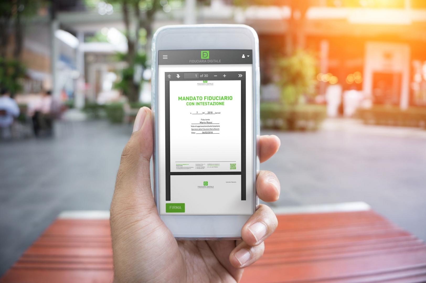 La fiduciaria nel tuo smartphone
