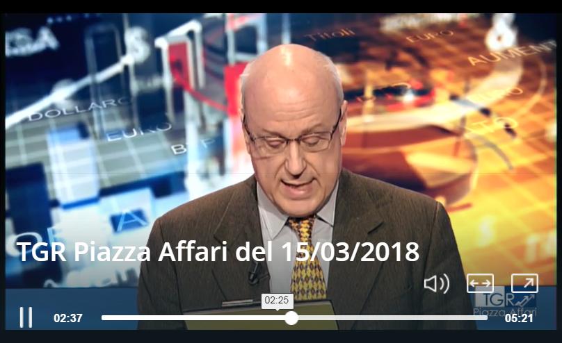 FD Fiduciaria Digitale presente a TGR Piazza Affari del 15/03/2018
